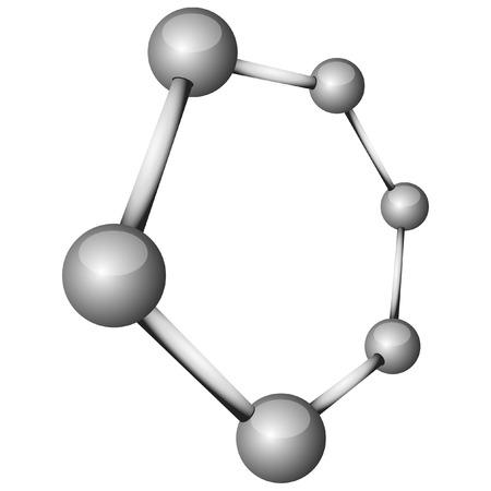 Ilustración de una molécula