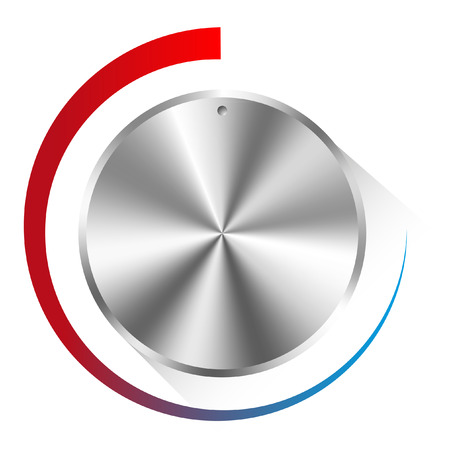 illustration of a metal control knob used for regulating