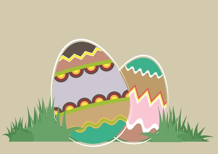 Illustration of easter eggs with patterns Stock Vector - 9187976