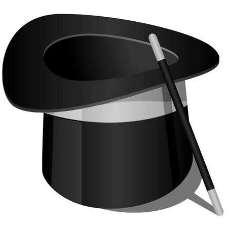 illustration of a magician's hat