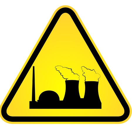 environmental contamination: sign indicating danger of nuclear power