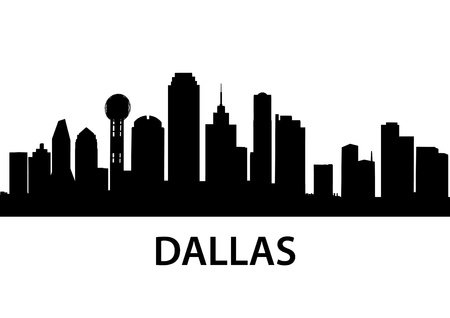 city skyline night: detailed illustration of Dallas, Texas