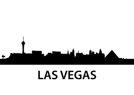 las vegas strip: detailed illustration of Las Vegas, Nevada Illustration