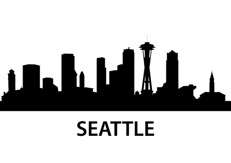 needle: gedetailleerde illustratie van Seattle, Washington