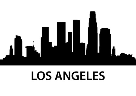 financial district: detailed illustration of Los Angeles, California Illustration