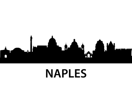 italy landscape: detailed illustration of Naples, Italy