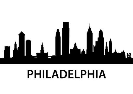 szczegółowe ilustracji Filadelfia, Pensylwania Ilustracje wektorowe