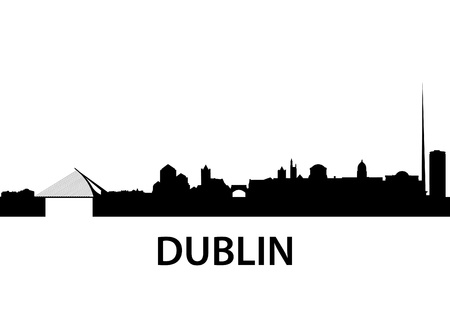 detailed illustration of Dublin, Ireland Vector