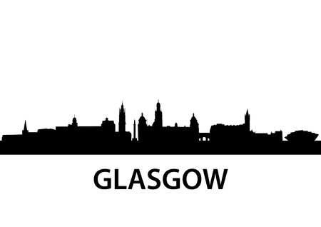 cathedrals: detailed illustration of Glasgow, Scotland