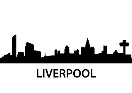 detailed illustration of Liverpool, Great Britain Vector