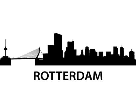rotterdam: detailed illustration of Rotterdam, Netherlands Illustration