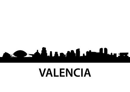 detailed illustration of Valencia, Spain Vector