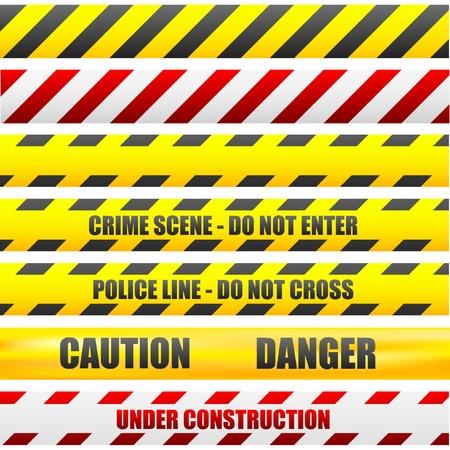 Ilustración de líneas diferentes de precaución