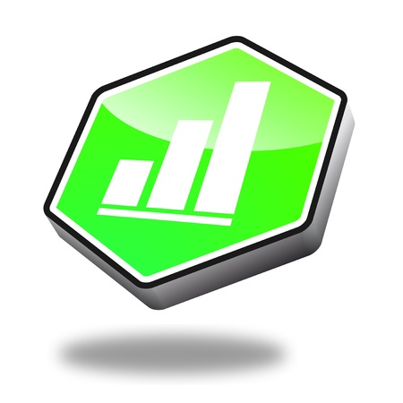 green finance button with perspective Stock Photo - 10269521