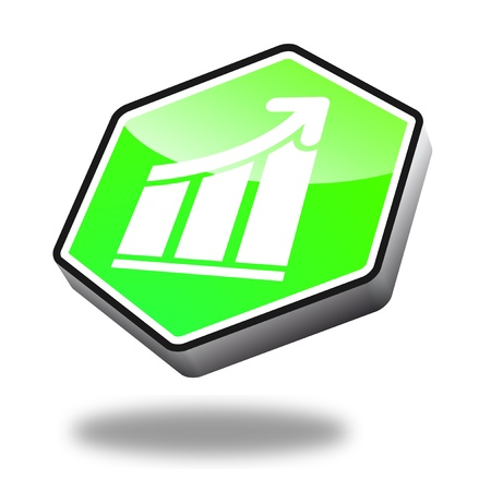 green recovery button with perspective Stock Photo - 10269526