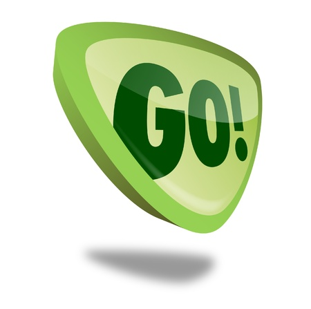 activation: green go button with perspective