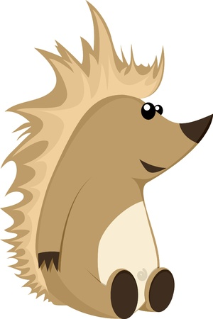 funny pictures: detailed illustration of a cute hedgehog character, eps8 vector Illustration