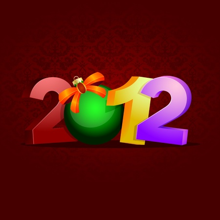 detailed illustration of a new year background, showing the year 2012, eps 8 vector Stock Vector - 11005405