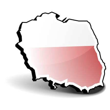 3D illustration of Poland with flag, eps8 vector Vector