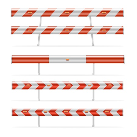 illustration of different construction barricades, eps 8 vector Vector