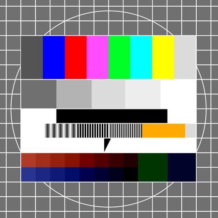レトロなテレビ テスト イメージ、eps 8 ベクトルのイラスト  イラスト・ベクター素材