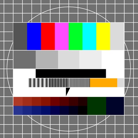 intro: illustration of a retro tv test image, eps 8 vector