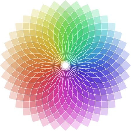 brilliance: illustration of a chromatic circle shaped as a flower