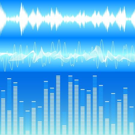 sonido: ilustraci�n de diferentes visualizaciones soundwave