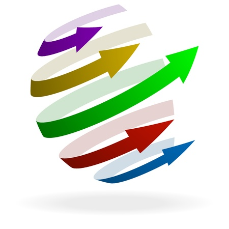 illustration of colorful arrows pointing in one direction Vector