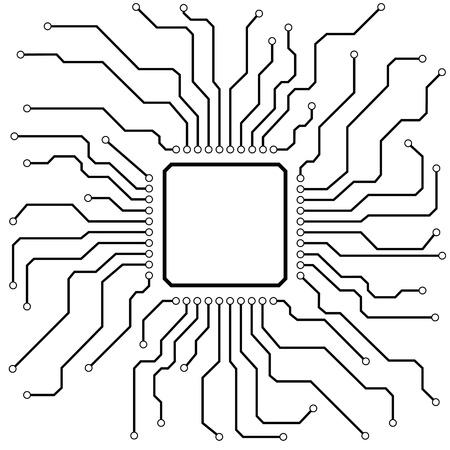 circuitos electricos: ilustraci�n de un tablero de circuito de alta tecnolog�a