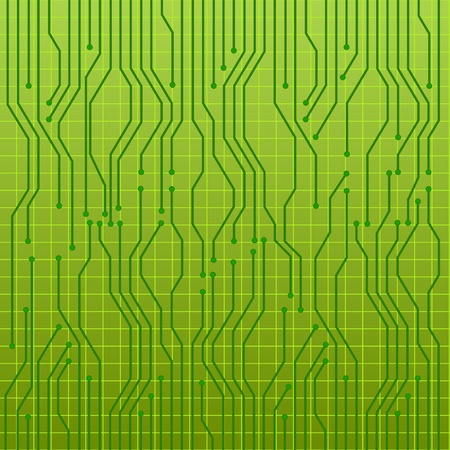 illustration of a green circuit board Vector
