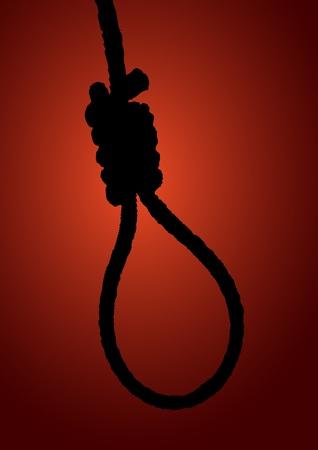 execution: illustration of a hangman noose Illustration
