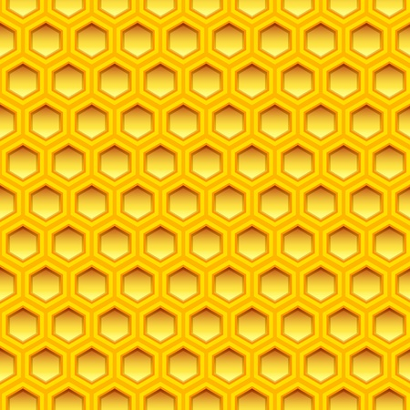 illustration of a honeycomb texture, seamless pattern Vector