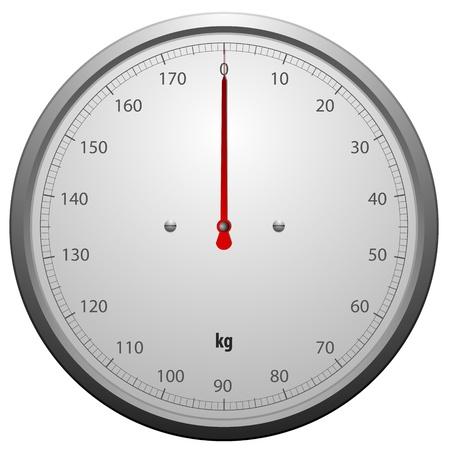 ba�o blanco: ilustraci�n de una escala para una m�quina de pesaje