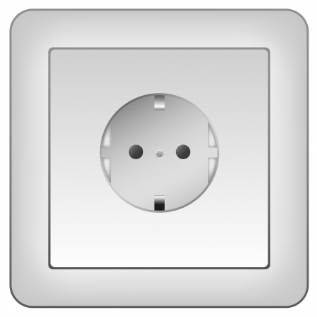 electrical outlet isolated on white commonly found in europe Stock Photo - 13783544