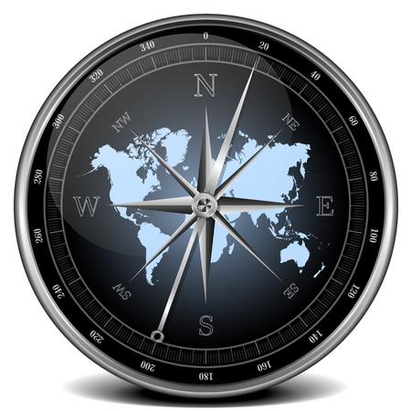 ir�ny: illusztrációja egy iránytű, kék színösszeállítás Stock fotó