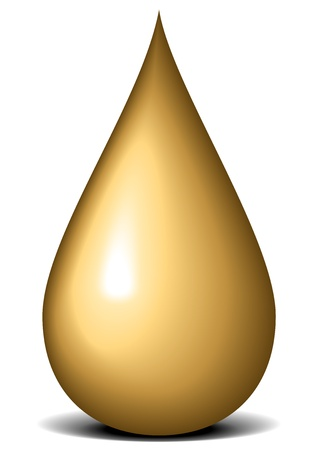 illustration of a drop of oil Vector
