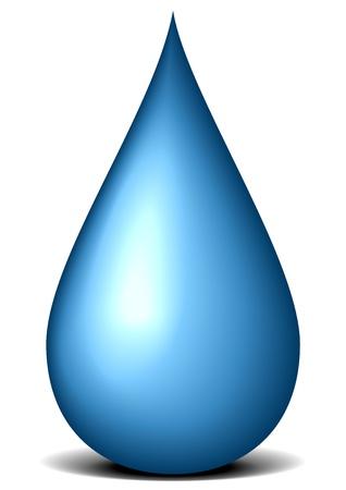 illustration of a blue liquid drop