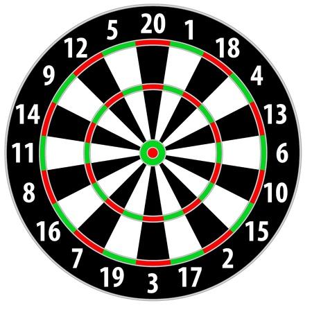 doelstelling: illustratie van een dart bord geïsoleerd op witte achtergrond