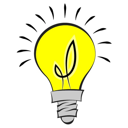 light bulb icon: illustration of a comic style light bulb