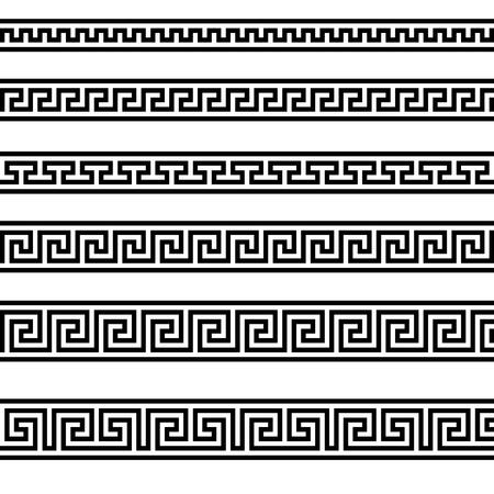arte greca: illustrazione di diversi modelli ornamento greco