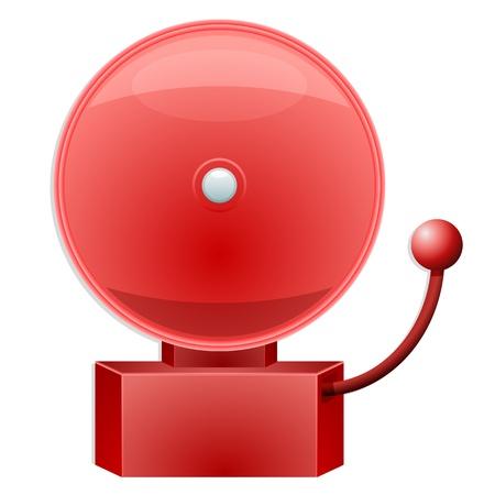 Ilustración de una campana de alarma rojo