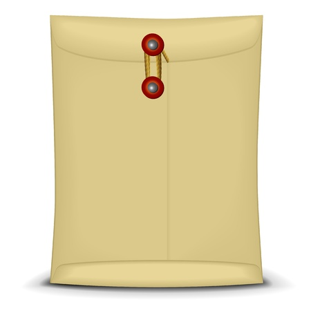 manila envelop: illustration of an envelope closed by string Illustration