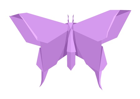 paper origami: illustration of an origami butterfly Illustration