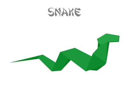 snake origami: illustration of an origami snake