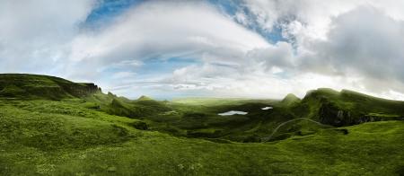 180 degree panorama shot of the scottish highlands Stock Photo - 15466138