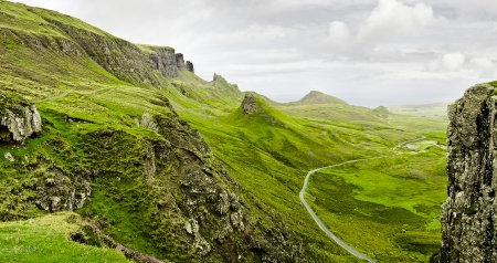 highland region: rough mountains in the scottish highlands Stock Photo