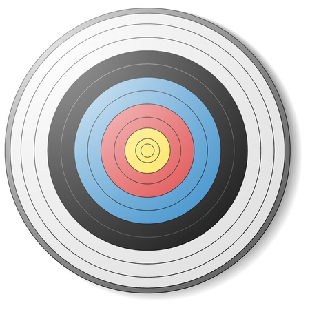 illustration of an archery target Stock Vector - 15797160