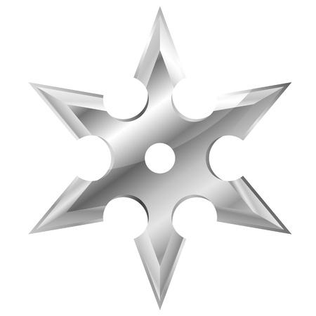 shuriken: ilustraci�n de un shuriken de metal ninjas