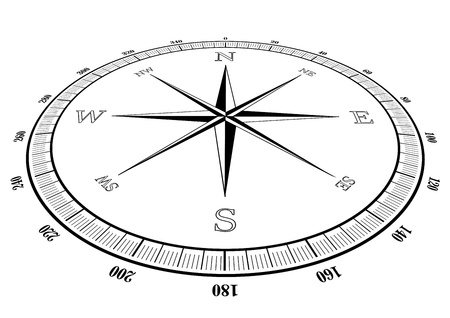 illustration of a compass rose Vector